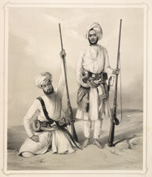 Two Arabs. Followers of the late Sir Alexander Burnes, who accompanied him to Simla